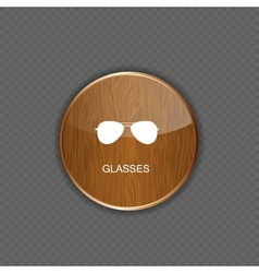 Glasses application icons vector