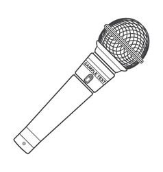 Outline stage microphone vector