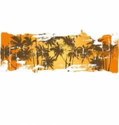 Grunge hawaii scene vector