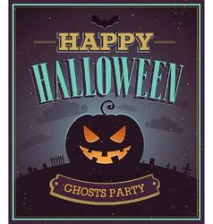 Happy halloween typographic design vector