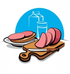 Sandwich with sausage vector