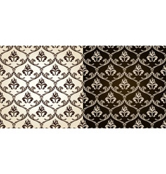 Seamless vintage backgrounds black brown baroque p vector