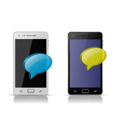 Mobile concept sending and receiving messages vector