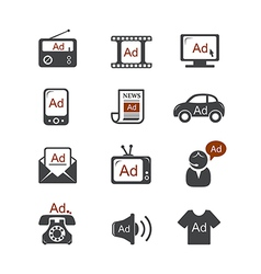 Advertisement icons vector
