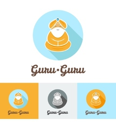 Flat modern minimalistic guru logo vector