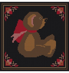 Embroidered bear vector