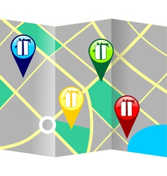 Gift giving destination tracking map vector