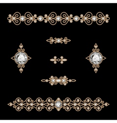 Jewelry decor vector