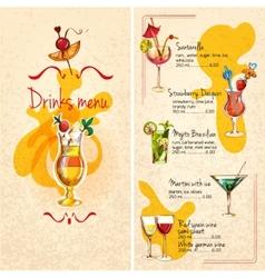 Bar menu sketch vector