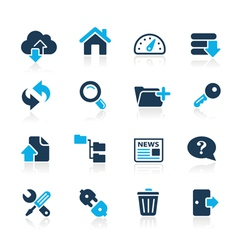 Ftp hosting icons azure series vector