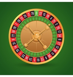 Realistic roulette isolated vector