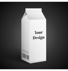 Milk juice beverages carton package blank white vector