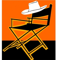 Chair and hat vector