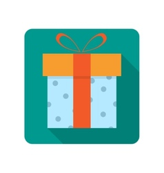 Gift box flat icon vector