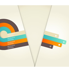Four colored stripes with place for your own text vector
