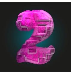 Pink plastic figure 2 vector