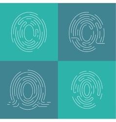 Set of icons fingerprint vector