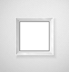 Hanging paper sign frame grey picture shadow vector