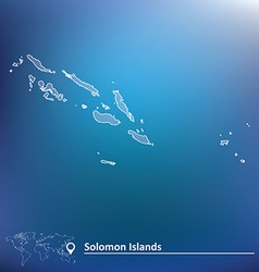 Map of solomon islands vector