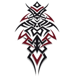 Tribal tattoo red black vector