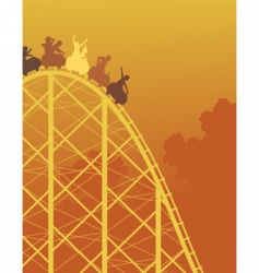 Rollercoaster ride vector
