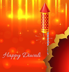 Beautiful shiny background of diwali vector