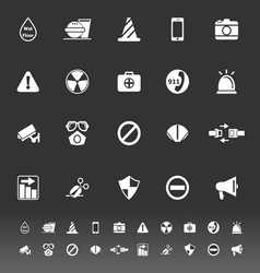 General useful icons on gray background vector