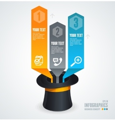 Modern glossy infographics options arrow banner vector