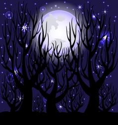 Night scene vector