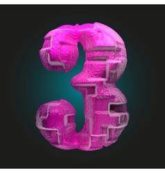 Pink plastic figure 3 vector