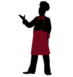 Silhouette chef - vector