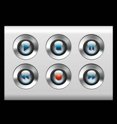 Gray buttons vector