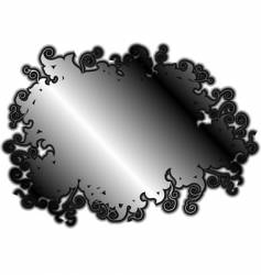 Silver rococo background vector