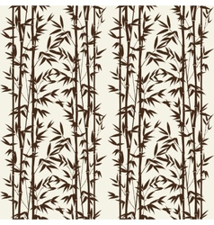 Bamboo seamless pattern vector