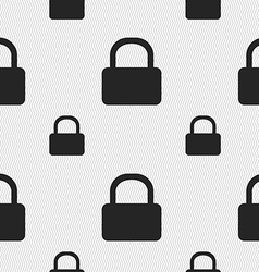 Pad lock icon sign seamless pattern with geometric vector