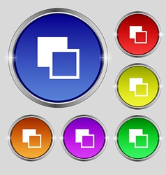 Active color toolbar icon sign round symbol on vector