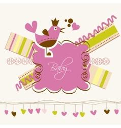 Cute baby arrival card vector
