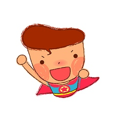 Close-up of boy shouting vector