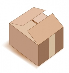 Empty paper box over white vector