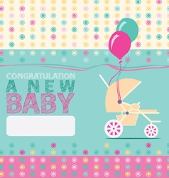 Baby new born greeting vector