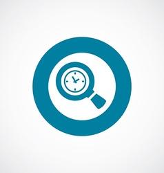 Magnifier time icon bold blue circle border vector