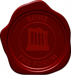 Forum sealing wax vector
