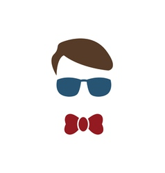 Young boy with blue glasses vector