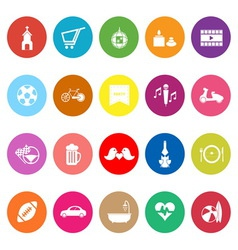 Friday and weekend flat icons on white background vector