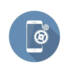 Modern flat mobile icon vector