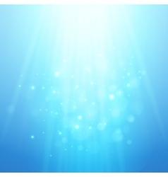 Blue rays of light bokeh blurred vector