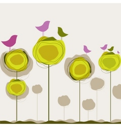 Nature birds vector