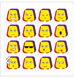Emotive smileys vector
