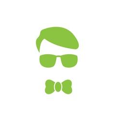 Green young boy logo vector