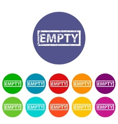 Empty flat icon vector